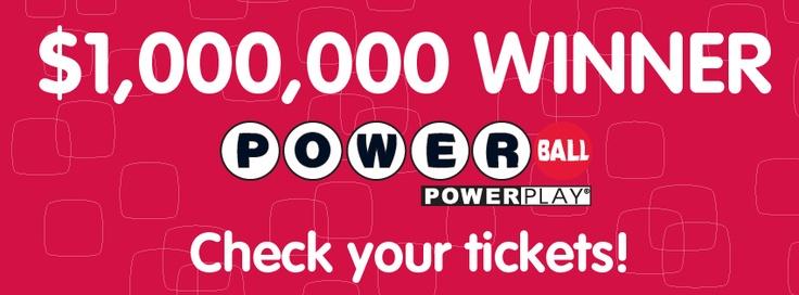 POWERBALL WINNER ALERT! WOOOOH!    Idaho had a $1,000,000 Powerball Winner from last night's draw!    Check your tickets, please stay tuned!