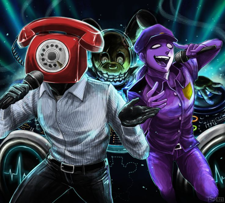 Singing by Rebe921.deviantart.com on @DeviantArt<<<Purple Guy is being fucking fabulous over there.