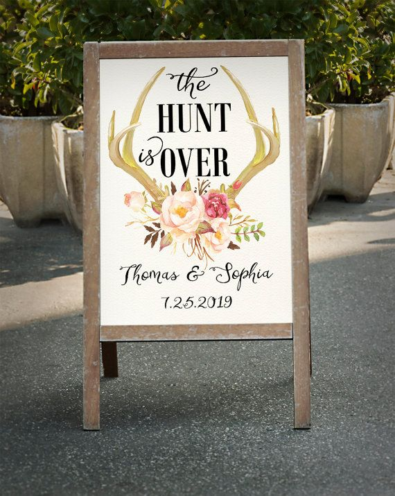 Printable The hunt is over Deer antler by HappyLifePrintables