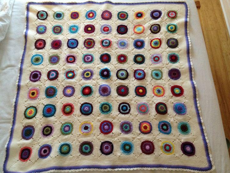 Bullseye blanket style craft