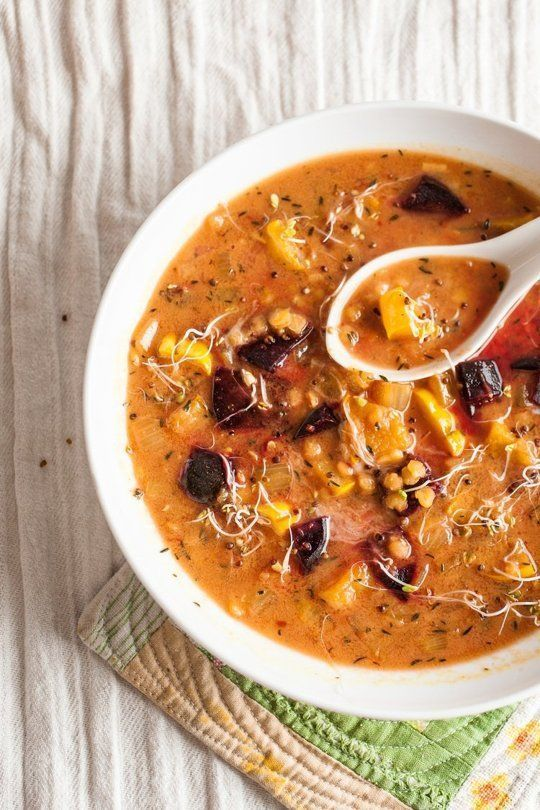 Spicy Lentil Soup from The Kitchn -- keeping this one for busy weeknights.
