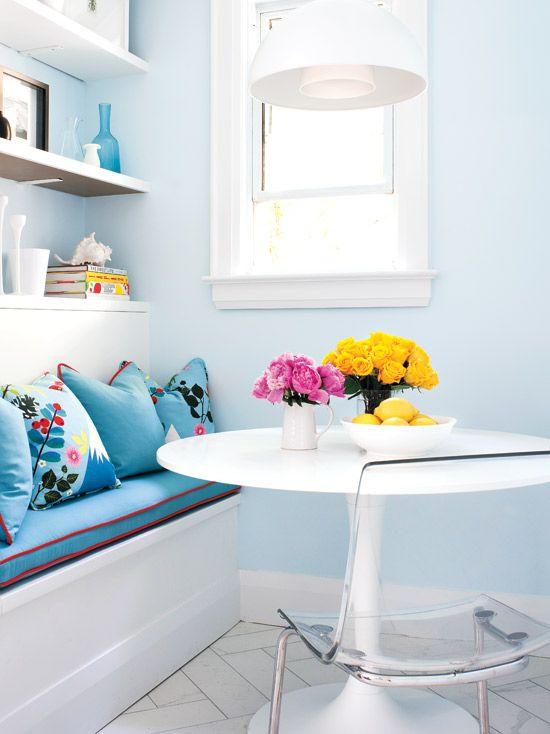 A charming nook in a pretty kitchen. {PHOTO: Virginia Macdonald}