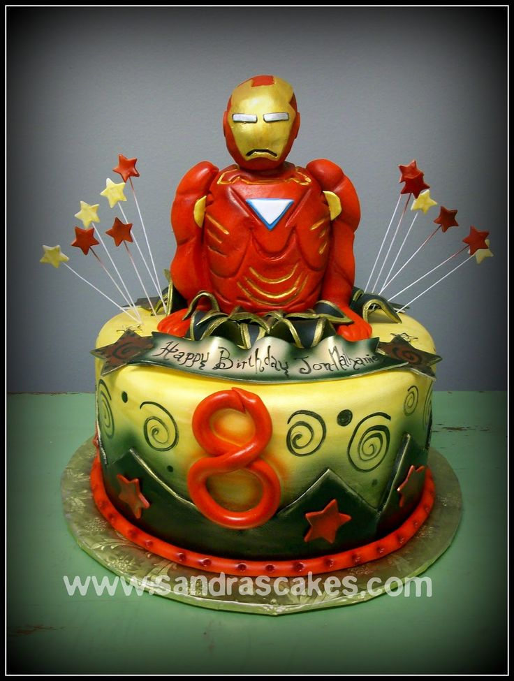 Images Of Iron Man Birthday Cakes : Sandra s Cakes: Ironman Birthday Cake Cakes Pinterest