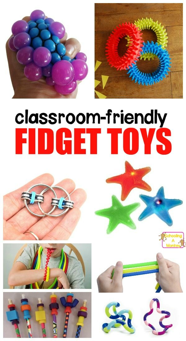 Kids with ADHD NEED to move. Use these classroom-friendly fidget toys for ADHD to help them concentrate and focus in the classroom and at home.