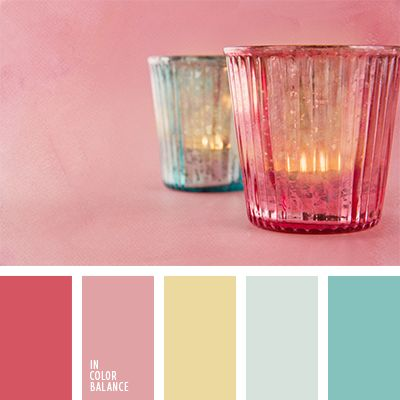 amarillo y turquesa, color turquesa, frambuesa, frambuesa y turquesa, paletas para un diseñador, rosado suave, selección de colores para el diseño, tonos pastel cálidos, tonos rosados, turquesa, turquesa sonrosado, turquesa y carmesí.