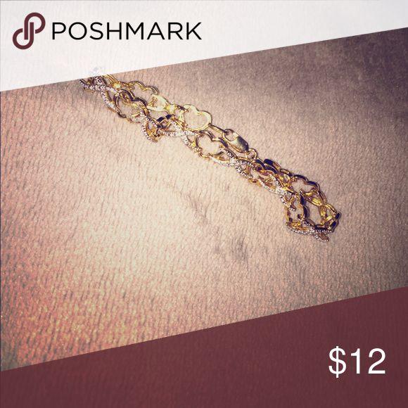 Piercing Pagoda heart bracelet Gold bracelet piercing pagoda Accessories