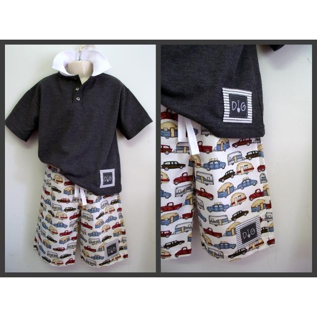 $17.50 Size 4 to 5 Boys Shorts and Polo Set by TrellisDesign on Handmade Australia  Love this set!