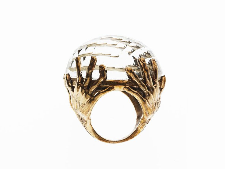PUSHMATAaHA/ Hold Me Ring/ Rose Gold with Crystal