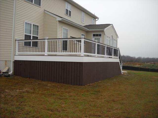 ideas for deck skirting | deck, azek decking, vinyl decking, vinyl deck railing, pergolas