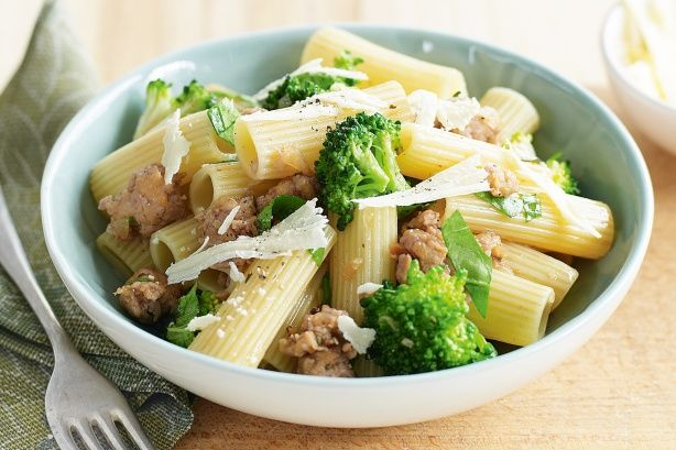 Rigatoni with Italian pork sausage and broccoli main image