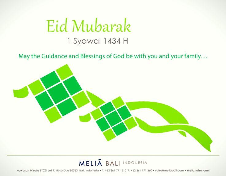 To all who celebrate Eid Mubarak 1 Syawal 1434 H