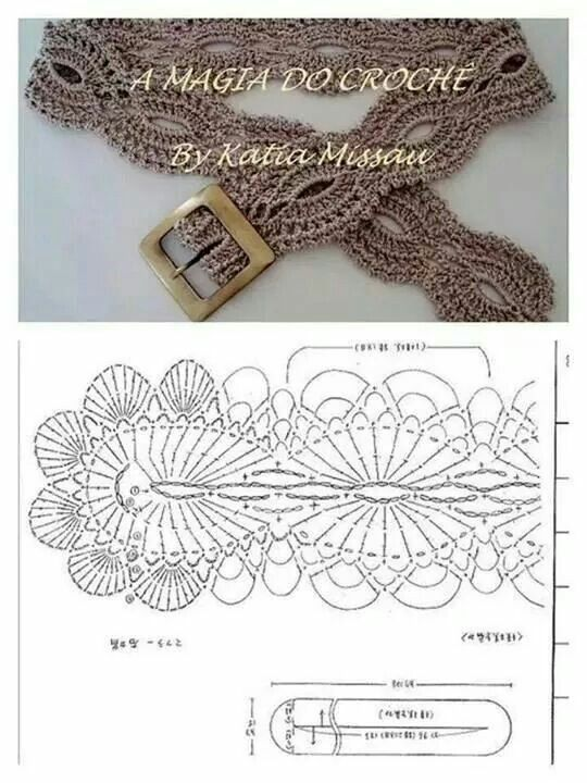 7 best Crochet Belts images on Pinterest | Belts, Crochet belt and ...