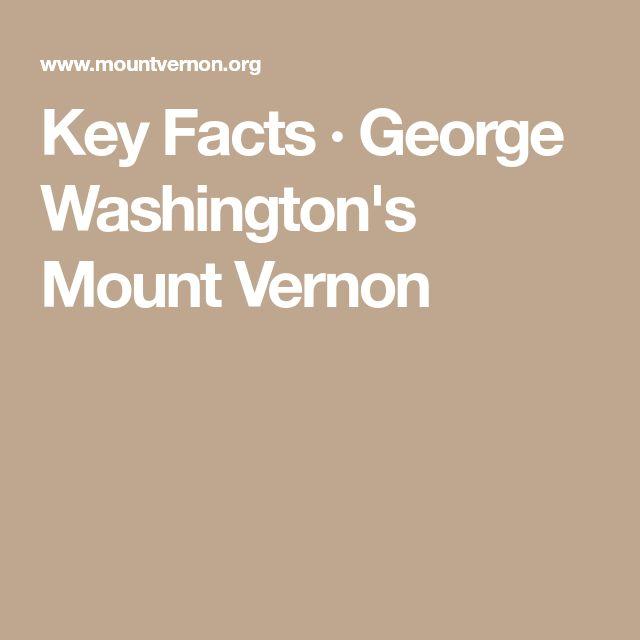 Key Facts·George Washington's Mount Vernon