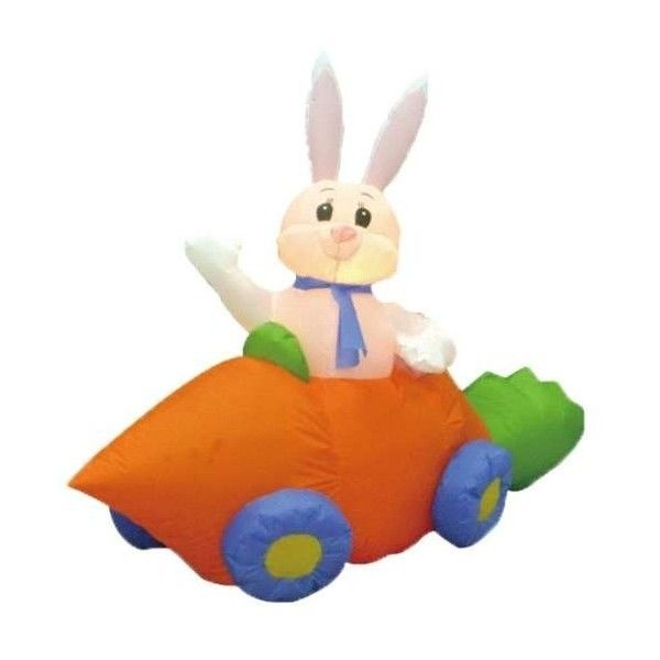 Image Detail For  BZB Goods Six Foot Long Easter Inflatable Rabbit In  Carrot Car Holiday