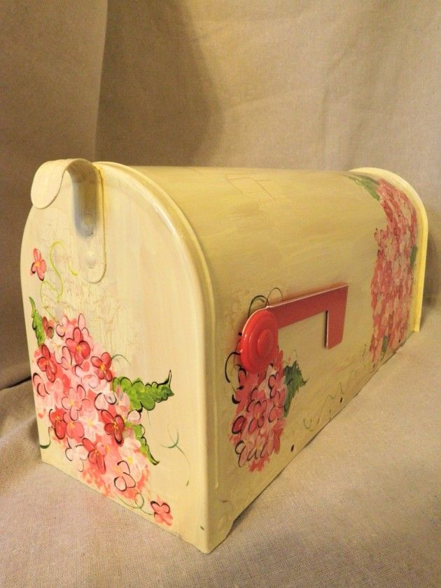 20 Beautiful Handmade Mailbox Designs...I like the flowers if you put one in the garden to hold your tools.