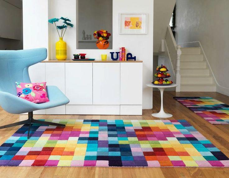 alfombra, detalles en colores
