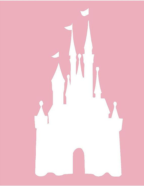 Disney CASTLE 22x42 Modern Vinyl Decal Wall Lettering Words  Princess