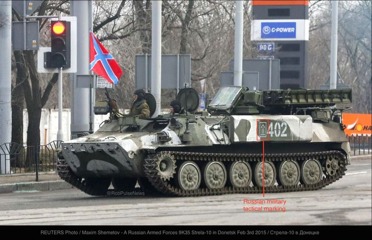 .@Reuters photo: #Russia|n army Strela-10 SAM in #Donetsk Feb 3rd https://twitter.com/RobPulseNews/status/562673106847006722…  @PMBreedlove @BarackObama