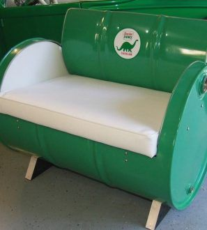 drum furniture. Drum Works Furniture Repurposes Recycled 55 Gallon Steel Drums Into Seating Bars Shop Cabinets