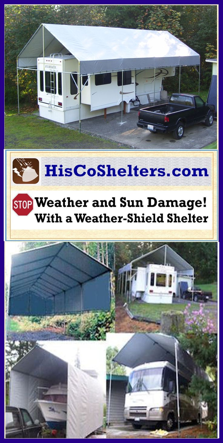 Rv 5th Wheel Carport Cover : Best images about portable carport shelters on