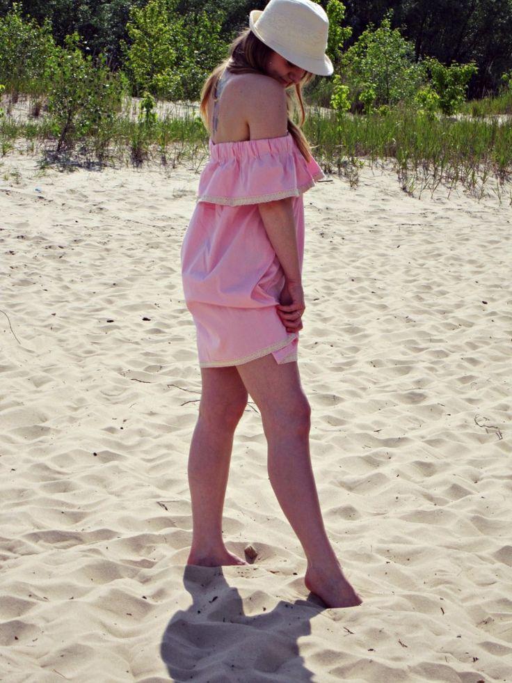DIY off the shoulder dress 3 - lilmissboho.com