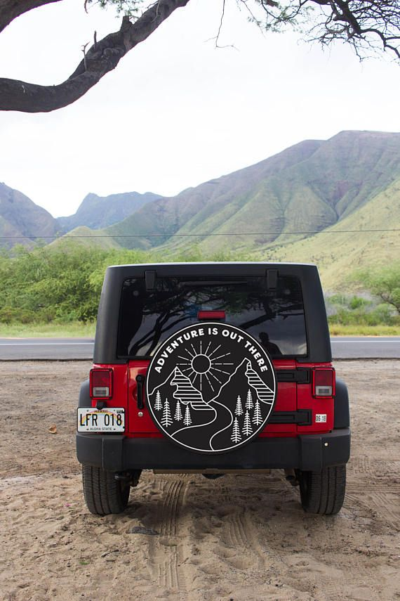 Jeep Tire Cover Adventure Is Out There Mountain Design Etsy In 2020 Jeep Tire Cover Jeep Wrangler Tire Covers Tire Cover