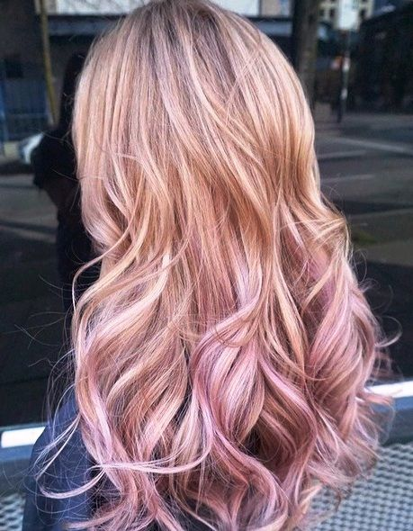 Balayage With Pink Ends