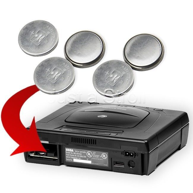 CMOS Save Game Battery 5 pack Coin Button Cell for Sega Saturn Console NEW!