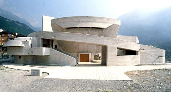 Church of the Immaculate Conception. Longarone, Italy, 1966-78. Giovanni Michelucci.