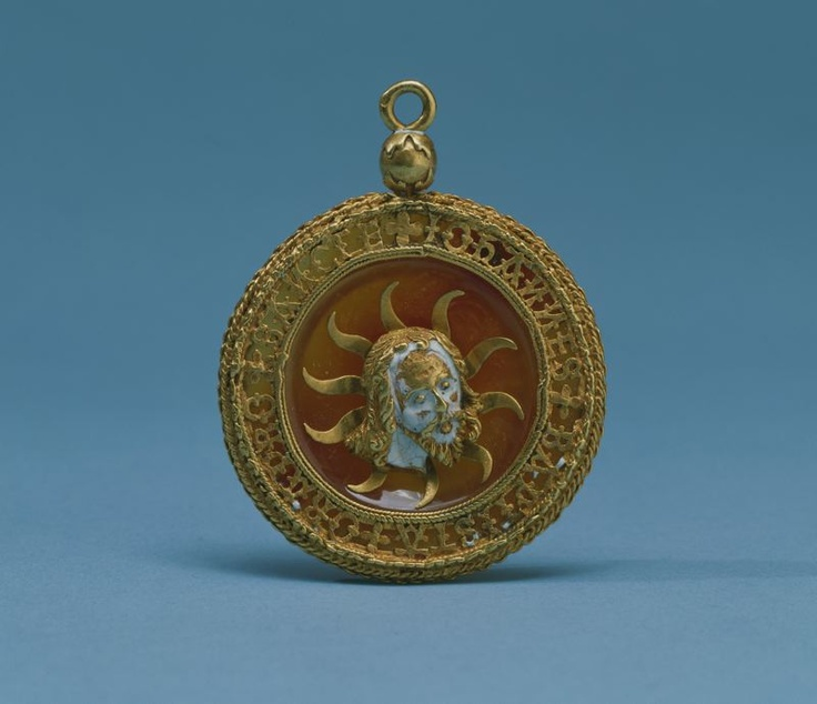 French    Pendant or Hat Pin with Head of John the Baptist, 15th century    Gold, enamel, and carnelian: French Pendants, Artworks, Century Jewellery, Renaissance Jewelry, Pendants 15Th, Head, 15Th Century, Hats Pin, John The Baptist
