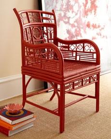 """爱 Chinoiserie? Mai Qui! 爱 home decor in chinoiserie style - Red Egg """"Persy"""" accent chair"""