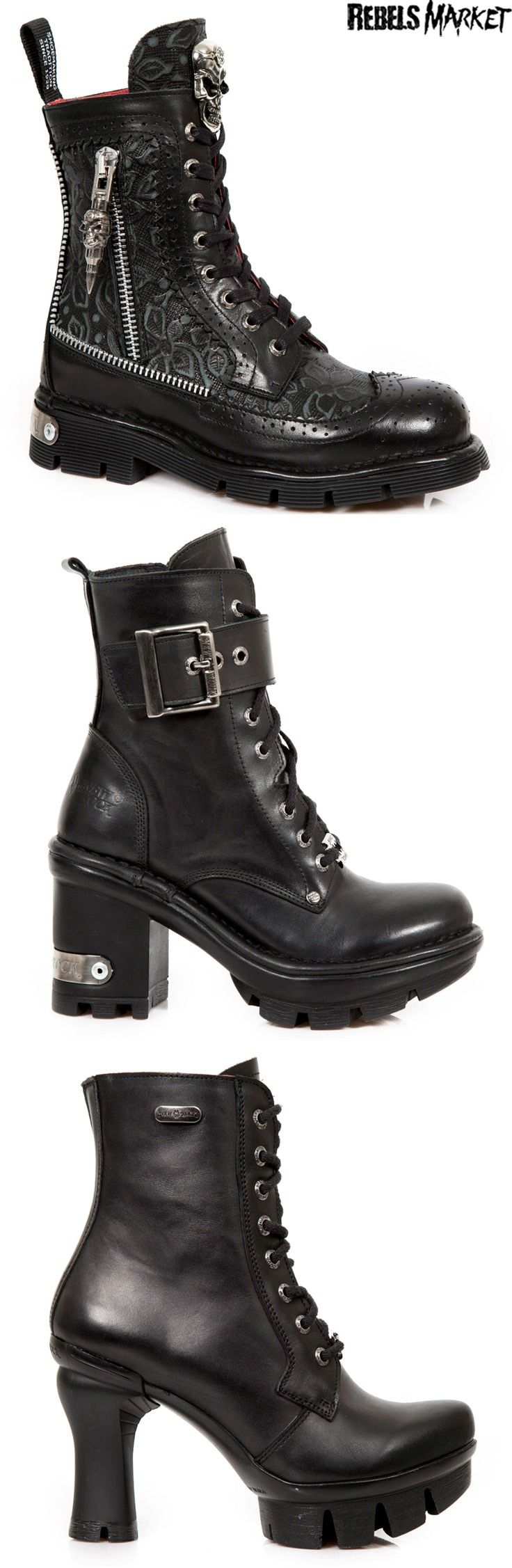 Shop goth punk boots at RebelsMarket. en amour pour celle du milieu