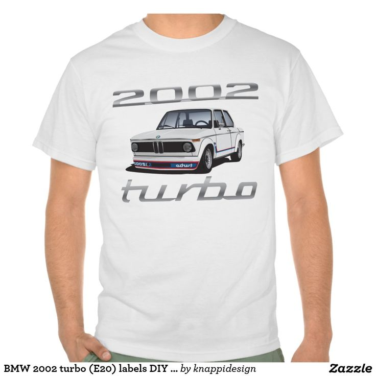 BMW 2002 turbo (E20) labels DIY white Tshirt  #bmw #bmw2002 #bmwe20 #bmw2002turbo #automobile #tshirt #car