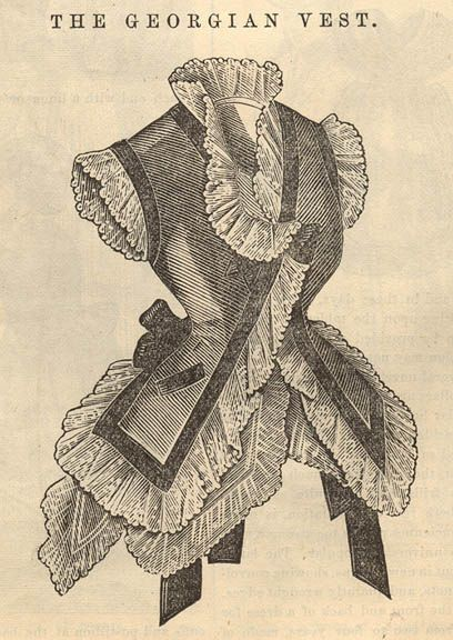 """The Georgian Vest""- Pattern. Peterson's July, 1875"