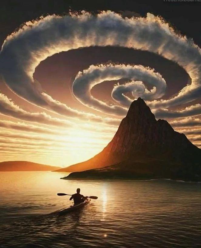 Swirl clouds