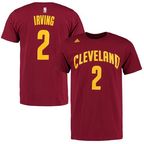 Men's Cleveland Cavaliers Kyrie Irving adidas Black Net Number T-Shirt