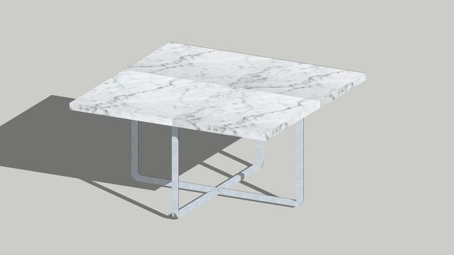Ninety Coffee Table White Carrara 60x60 3d Warehouse