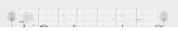 "Imberg Arkitekter - Proposal for ""Barnrum"" - A space for children in Stockholm. North elevation."