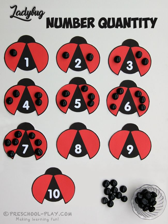 Ladybug Number Quantity Activity - Help these ladybugs get their dots with this cute, free printable game. This activity is a wonderful way for children to improve their number sense. It holds many math skills and concepts, such as number quantity and number recognition, one-to-one correspondence, and counting.