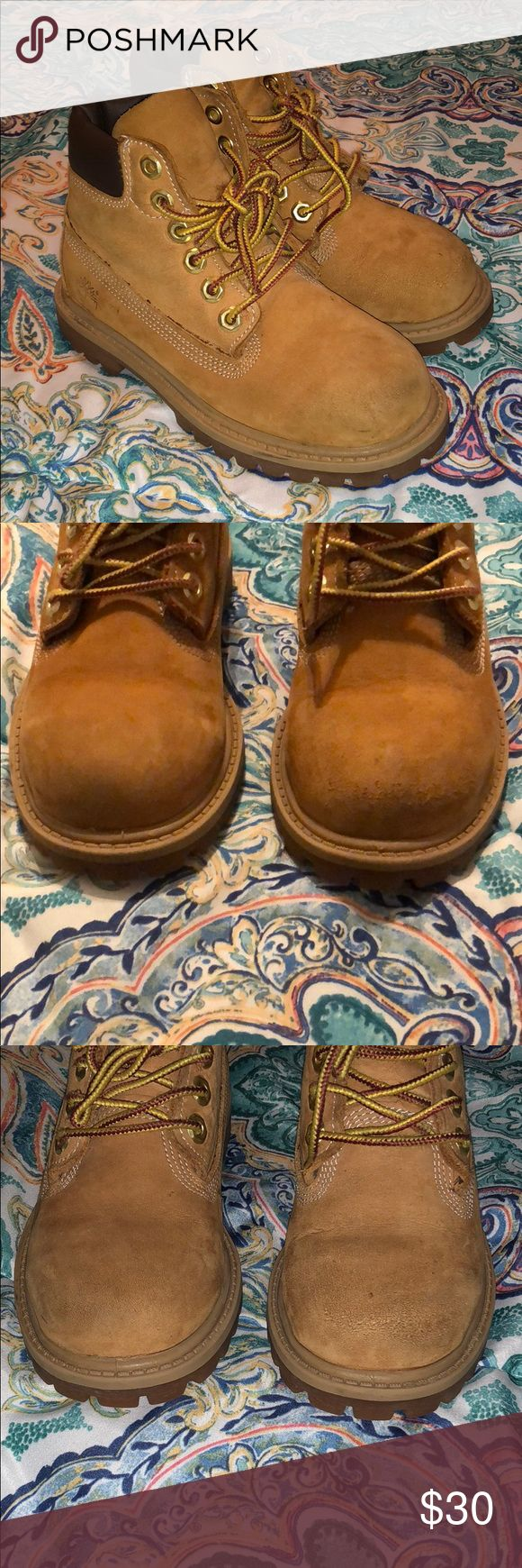 Toddler Boys Timberland Boots Size 10 Timberland Boots Boys Toddler size A few scuffs that can be brushed out. Overall in good shape.   Bundle items to save!! Timberland Shoes Boots
