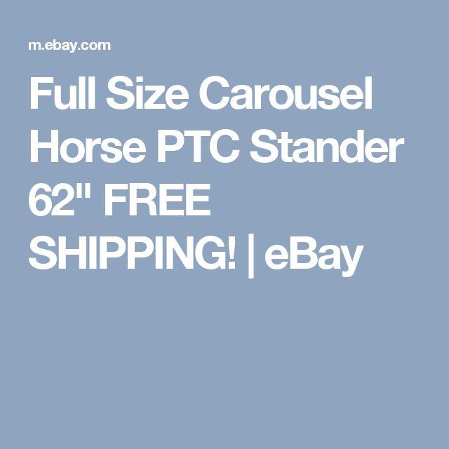 "Full Size Carousel Horse PTC Stander 62"" FREE SHIPPING!  | eBay"