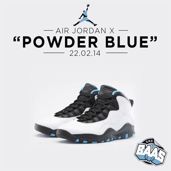 "AIR JORDAN X ""POWDER BLUE"" Release: 22 - 02 - 14  310804-106 310906-106 310808-106  www.sneakerbaas.nl"