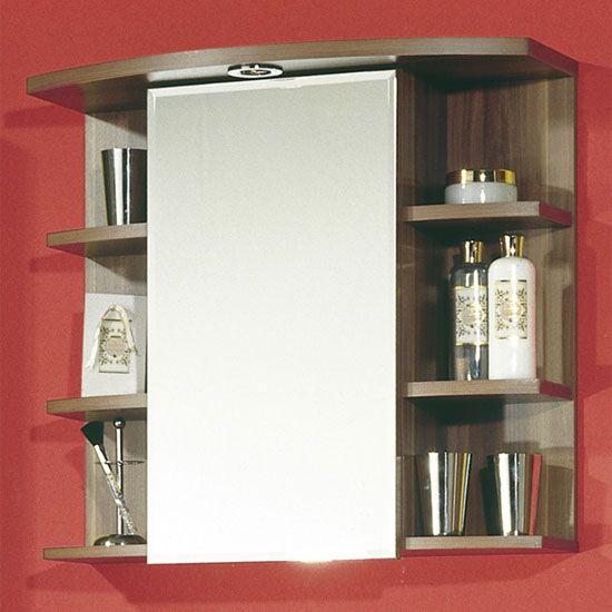 Jessica Mirrored Walnut Bathroom Cabinets 731 88 17795 Bathroomcabinet Furnitureinfashion