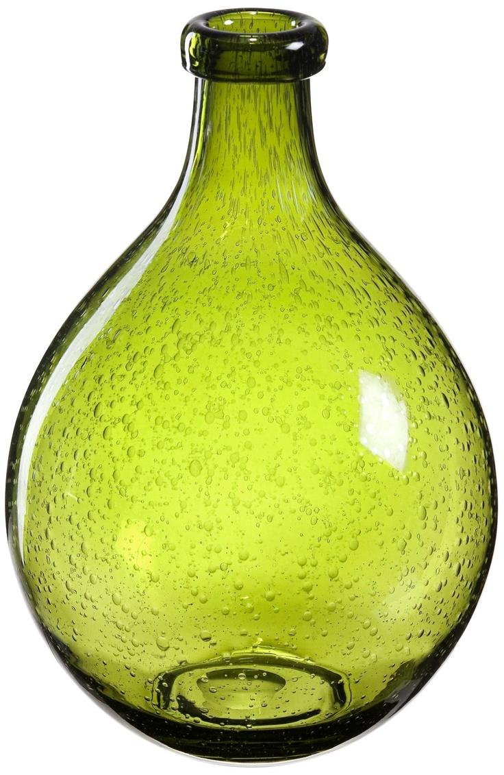 bulle olive green glass vase decorative vases pinterest. Black Bedroom Furniture Sets. Home Design Ideas