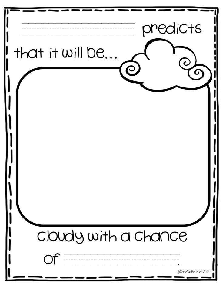 Weather Freebie.pdf Google Drive Weather kindergarten