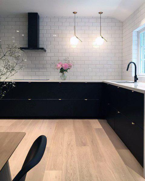 Top 50 Best Black Kitchen Cabinet Ideas – Dark Cabinetry Designs