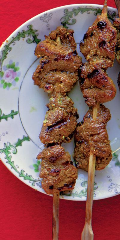 Satay Kambing (Lamb Satay) ~ A sweet-and-sour marinade typifies this west Javanese-style satay.