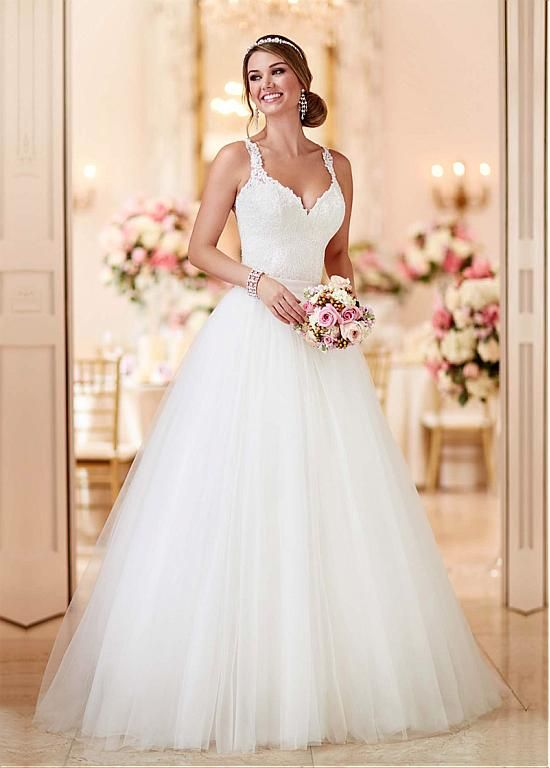 Trendy Mystic Rose wedding dress