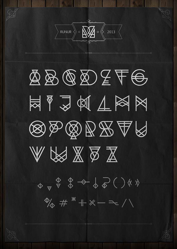 RUNUR font by Yan Kittsel, via Behance