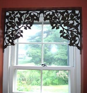 DIY Shelf Brackets Window Treatments